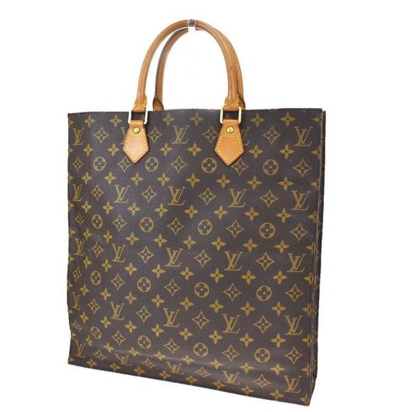 Authentic LOUIS VUITTON Sac Plat Hand Bag